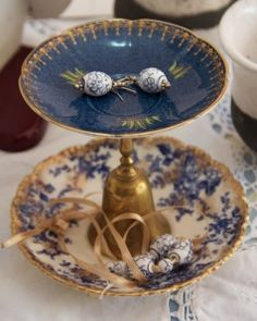 Jewellery Dish made from upcycled bone china