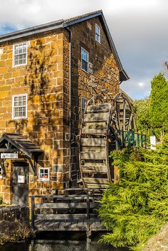'Penny Royal Water Mill, Launceston, Tasmania, Australia' by Elaine Teague Places Around The World, Around The Worlds, Land Of Oz, Water Mill, Le Moulin, Great Barrier Reef, Australia Travel, Luxury Travel, Land Scape
