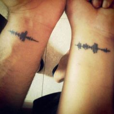 "Soundwaves tattoos   Just have to decide which ""saying"" to do.  We have SO many!"