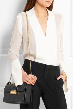 Lanvin Jiji Small Leather Shoulder Bag in Black | Lyst