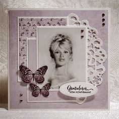Kort & Godt Galleri Picture Layouts, Vintage Scrapbook, Mothers Day Cards, Vintage Shabby Chic, Scrapbooking Layouts, Cardmaking, Diy And Crafts, Place Cards, Projects To Try