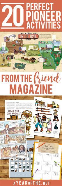 A Year of FHE // Check out this great collection of MOrmon Pioneer Activities from the Friend magazine! Love having all of the links in one place!  #lds #pioneers #pioneerday