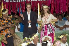 "The Duke and Duchess of Cambridge went dancing in Tuvalu. Theirs ""shamanstic dance"" for others to enjoy ;)"