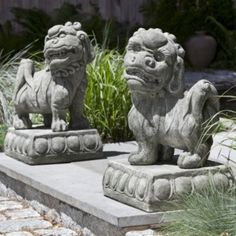 Foo Dog Statues-Frontgate
