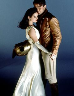 Jennifer Connelly and Billy Campbell in The Rocketeer (1991) Movie Image | BeyondHollywood.com