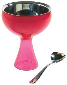 A Di Alessi Big Love Ice Cream Bowl And Spoon - Pink - #valentinesday