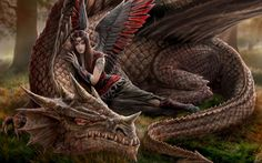 Amazing dragon fantasy art featuring hot girls, usually friends of the mythical creatures. Check out this amazing gallery of Girls and Dragons featuring hot girls friends with these mythical creatures. Dark Fantasy Art, Fantasy Kunst, Fantasy Artwork, Fantasy Women, Mythical Creatures Art, Magical Creatures, Dragon Medieval, Dragon Sketch, Dragon Artwork