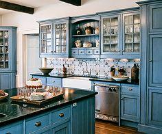 kitchen with soapstone counters httpwwwcrisparchitectscomnewhomes blue kitchen cabinetskitchen. Interior Design Ideas. Home Design Ideas