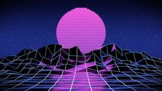 Digital Art Poster featuring the digital art Vaporwave by Tarik Radoncic Vaporwave Art, Neon Wallpaper, Background Images Wallpapers, Retro Futuristic, Thing 1, Glitch Art, Moonrise Kingdom, Free Illustrations, Urban Photography