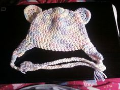 Crochet Korner Crochet Bear Hat Newborn by CrochetKorner on Etsy, $15.00