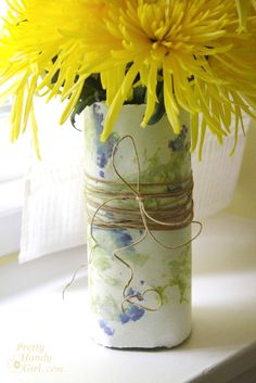 Pounded flowers? What?  ~ Sweet idea!