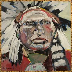 Incredibly talented Ira Yeager. Native Chief Painting.
