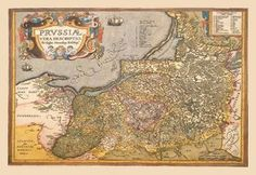 Map of Prussia 28x42 Giclee on Canvas