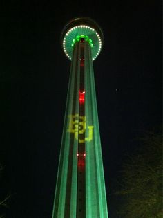 The Tower of the Americas in San Antonio for the Alamo Bowl 2011  Sic 'em, Bears!