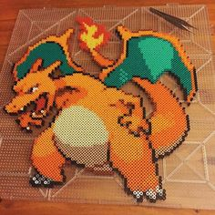 Charizard Pokemon perler beads by Nick Galilei