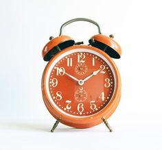 Tobi Fairley   Orange alarm clock