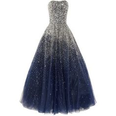 Lovelybride Amazing Strapless Beaded Prom Dress Long Formal Evening... (€195) ❤ liked on Polyvore featuring dresses, gowns, long blue dress, formal evening dresses, beaded gown, prom gowns and long prom gowns