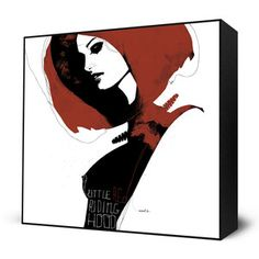 Little Red Mini Art Block now featured on Fab. Mesmerizing, Mind-Blowing Prints  Eyes On Walls is an art company that publishes an exclusive collection of edgy, inspiring, and hip art prints—often using popular urban culture as a springboard. Originally created by popular artists including Charlie Bowater, Alex Cherry, and HR-FM, each radical reproduction comes framed and ready to hang.