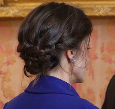 Queen Letizia wears the sapphire and diamond earrings of María de las Mercedes, Bvlgari. Princess Stephanie, Princess Estelle, Princess Charlene, Princess Madeleine, Crown Princess Victoria, Crown Princess Mary, Queen Maxima, Queen Letizia, Pregnant Princess