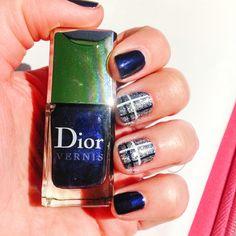 #blue #nails #dior