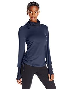 Saucony Women's Run Strong Cowl Hoodie, Midnight, Small
