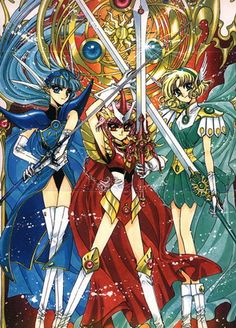 magic knight rayearth -  the first time I fell in love with an anime <3