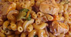 Délicieuse recette, toute simple, rapide et facile, je me suis inspirée d'une recette que j'avais vue dans la revue Je cuisine, je l'ai ... Poulet Lo Mein, Sauce Hoisin, Facon, Pasta Salad, Macaroni And Cheese, Shrimp, Meat, Chicken, Ethnic Recipes