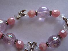Beads Jewelry BasicsGlass  Pink Round 12mm Silver by darlamarie23, $3.59