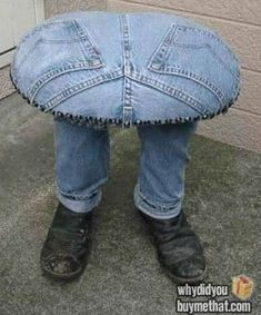 Stool made out of jeans