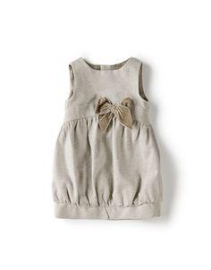Zara Dress w/ Bow … so cute! Little Girl Outfits, Toddler Girl Dresses, Little Girl Dresses, Toddler Outfits, Kids Outfits, Girls Pinafore Dress, Kind Mode, Baby Dress, Kids Fashion