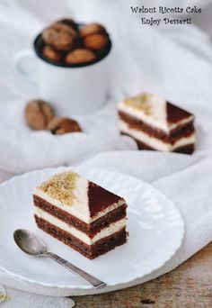 Cake with nuts and ricotta Romanian Desserts, Romanian Food, Chocolate Desserts, Chocolate Cake, Chocolate Delight, Eat Dessert First, Homemade Cakes, Culinary Arts, Let Them Eat Cake