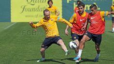 Training session preparing for Sunday's match against Zaragoza