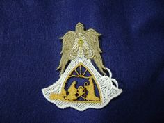 Embroidered Lace Nativity AngelManger by DebsCustomCreations, $7.00