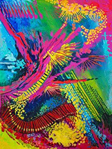 "Magenta Splash by Nancee Jean Busse Acrylic ~ 36 x 24Colorful Contemporary Abstract Art Painting ""Magenta Splash"" by Colorado Artist Nancee Jean Busse, Painter of the American West"