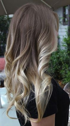 brown to blonde ombre hair | the hair look dirty but i love the look of that gradual dark to blonde ...