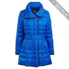 Just Cavalli Belted quilted shell coat