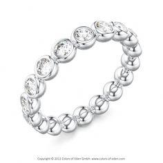 Platinum Wedding Band #Ring #Diamonds