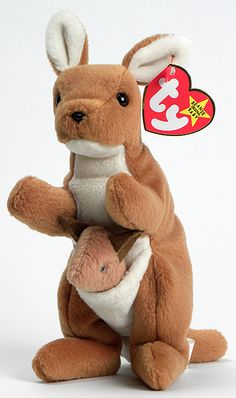 Pouch - Kangaroo - Ty Beanie Babies  Had this one, the joey was lost at a store when I was little