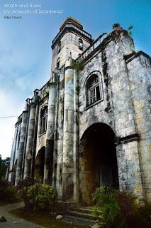 Albur Church in Bohol - Ruins after the 7.2 magnitude earthquake hit the province of Philippines