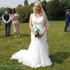 Real Bride Lisa Looks Absolutely Beautiful In Blondell By Viva Could This Be The One For You Www Wed2b Co Uk