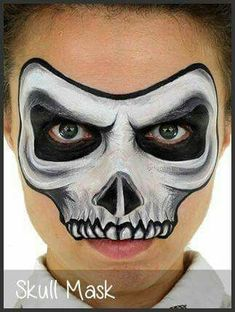 When you think about face painting designs, you probably think about simple kids face painting designs. Many people do not realize that face painting designs go Face Painting Halloween Kids, Halloween Makeup For Kids, Face Painting For Boys, Kids Makeup, Face Painting Designs, Halloween Ideas, Halloween Facepaint Kids, Kids Skeleton Face Paint, Zombie Face Paint