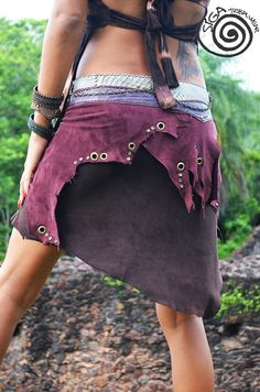 Amazon Skirt Leather Gipsy Tribal Fairy Wild by SigaTribalwear, €156.00