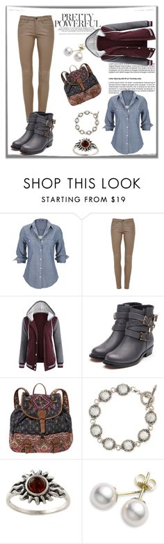 """""""Cassandra Reeves  - Can you feel my heart again?"""" by blackorchid1004 ❤ liked on Polyvore featuring Silver Jeans Co., Current/Elliott, Rupert Sanderson, Billabong, Konstantino, Amber Sun, Mikimoto, percyjackson, fanfiction and OCCharacter"""