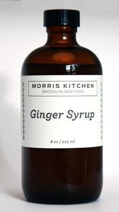 ginger syrup in mixed drinks or desserts