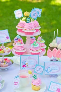 Whimsical Alice in Wonderland Garden Tea Party