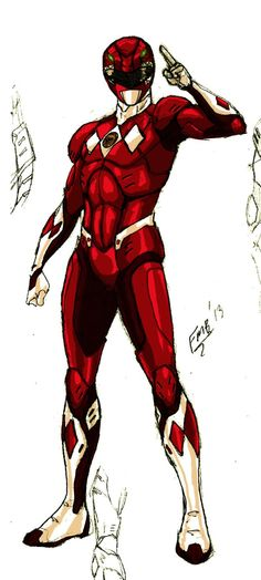MMPR : Red Ranger Gen 2 by kyomusha on DeviantArt