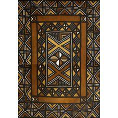 Grand bogolan africain traditionnel (150 X 222cm)