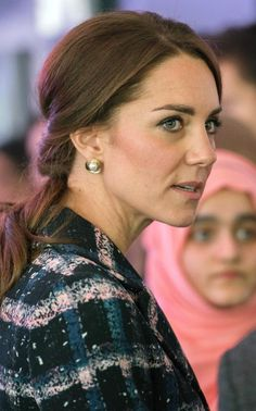 Catherine, Duchess of Cambridge visits the National Football Museum during their visit to Manchester on October 14, 2016 in Manchester, England.