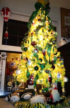 Green Bay Packer Tree made by Mommy with Love for Mason