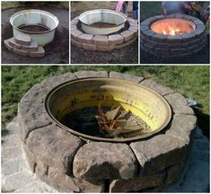 You are going to love these Tractor Rim Fire Pit Ideas and all you need is an old Tractor Wheel, Pavers and a few hours. Watch the video now.